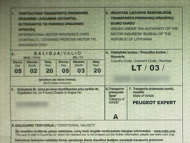 Калининградца с поддельной страховкой на границе просто попросили купить новую